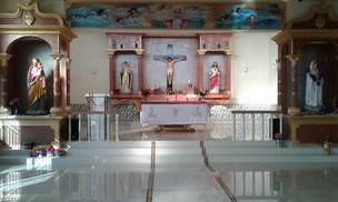 Der neue Kirchenraum der St. Norbert Chatolic Mission
