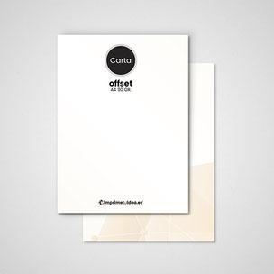 Cartas de empresas tamaño A4, impresas a todo color en papel offet de 90 gr.