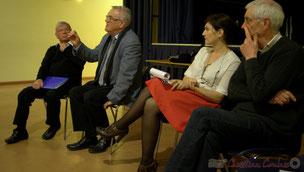 Antoine Caillard, Président de la Société Archéologique et Historique du Créonnais et Yvon Bugaret, président du comité de restauration de l'église de Créon