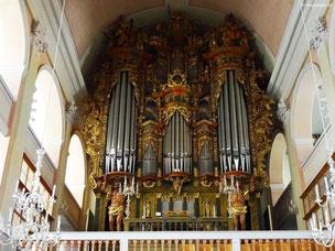 Barockes Orgelgehäuse von Friedrich Maucher, St. Kilian, Bad Windsheim