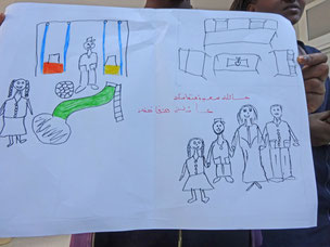 La famille idéale, dessin des jeunes