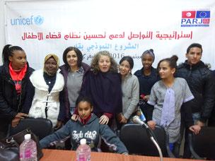 Visite de la représentante de UNICEF chez les adolescents à Gabès
