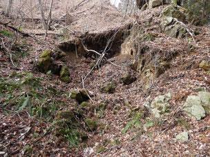 白山岳 鉄鉱石採掘跡