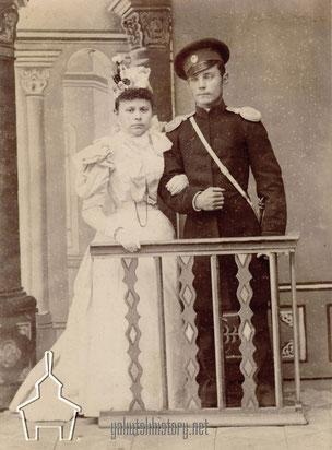 Свадьба М.И. Бердениковой и Н.М.Березкина в 1898 г.