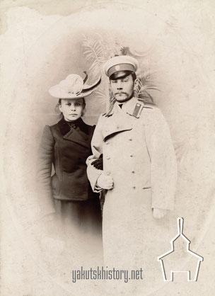 М.И. Берденикова и Н.М.Березкин в 1900 г.