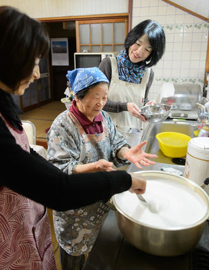 Lunch cooking with Obaachan (elderly lady)