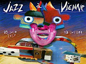 Affiche de Bruno Théry pour le Festival de Jazz à Vienne (2017)