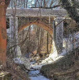 Camí de l'aigua de Bolvir - Pont gelat
