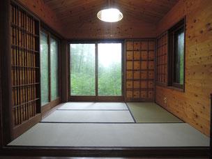 畳の部屋も障子と畳を新しく