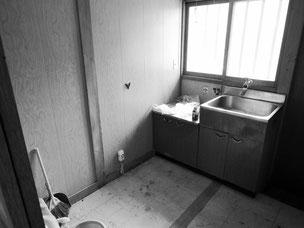少し暗いイメージのキッチン