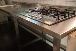 当社設計ののオールステンレスのキッチン