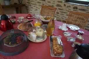 Petit-déjeuner gourmand en chambre d'hotes Aveyron