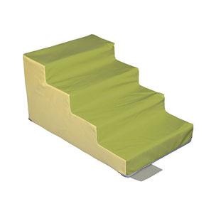 Escalier 4 marches sans PVC Sarneige maternelle pour enfants à acheter pas cher. Matériel de motricité Sarneige escalier 4 marches maternelle sans PVC au meilleur prix.