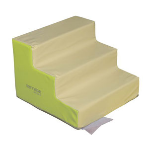 Escalier 3 marches sans PVC Sarneige crèche pour enfants à acheter pas cher. Matériel de motricité Sarneige escalier 3 marches crèche sans PVC au meilleur prix.