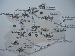 Приорат, карта местности