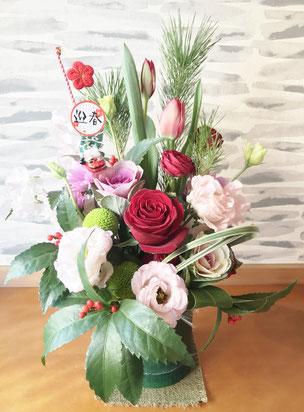 癒しの和エステ「心美」玄関のお正月の花