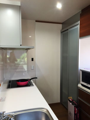 キッチンリフォームで大容量の収納も設置