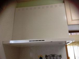 台所のリフォームでコンロと 換気扇を交換