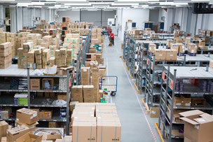 Warehousing logistics, warehousing strategy, building and layout planning, technical interior equipment, process optimisation, outsourcing and contract logistics, choice of site
