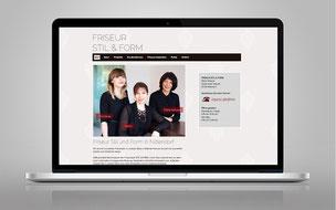 Beispiel für Webdesign, Homepage