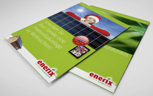 Beispiel für Print Design, Flyer