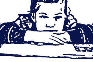 Eine Schülerin mit Lernproblemen