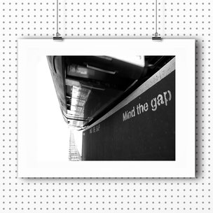 Photographic Art Print 'Mind The Gap' by PASiNGA