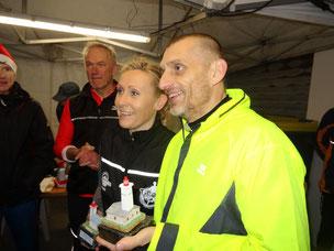Les vainqueurs Agnes et Alain