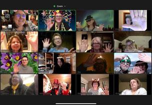Online-Faschingsparty der Rainbow Singers