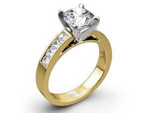 ダイヤモンド 1.75ct VVSクラス  メレD K18 指輪