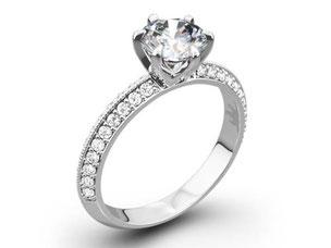 ダイヤモンド 2ct VVSクラス  メレD Pt 指輪