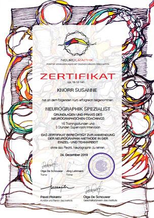 Neurographik, Neurographik Spezialist, Kurs, Zertifikat des IKP-modern, Susanne Knorr