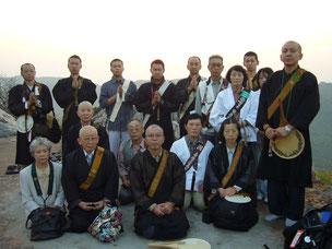2006年 龍泉寺仏蹟参拝 霊鷲山ご来光