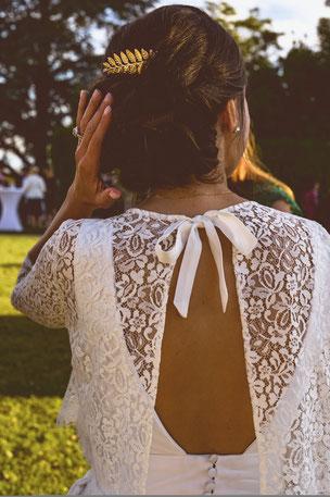 Robe mariée sur mesure toulouse dentelle Chantilly