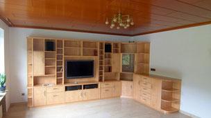 Tischlerei Nengel Lahnstein Koblenz Möbel nach Maß Wohnzimmer Regalwand