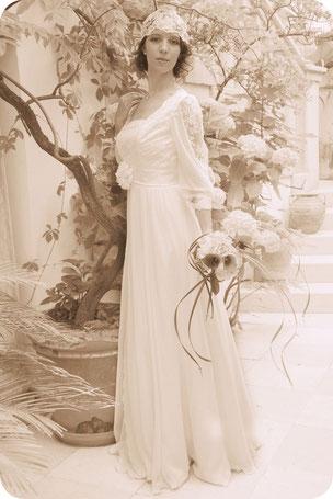 20ies Style Braut mit Braut-Cap