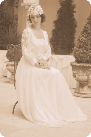 Braut Headpiece im Gatsby Style