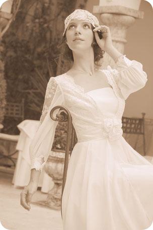 Braut Vintage Haarschmuck aus Spitze