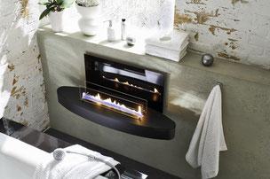 Ebios Bioethanolbrenner als Möbel im hotel oder resturant