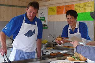 Eröffnung Erlebniswochen - Fischstand Bächer
