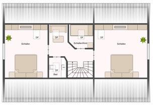 Dachgeschoss  (App. über 2 Etagen)