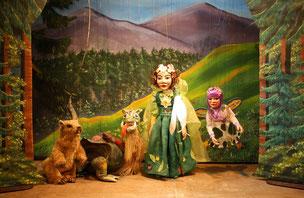 Marionettentheater Märchen an Fäden - Drache Funki und die gefangene Frühlingsfee