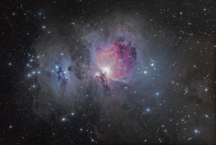 Orion and Running Man Nebulae