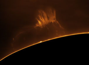 Massive solar prominence - March 28, 2016