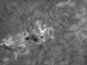 Portion of AR 2497 on solar surface