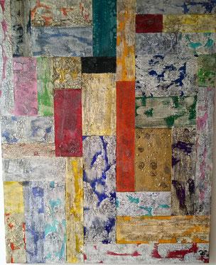 Driftwood Collection 2018 (Acryl Mischtechnik, Strukturpaste, Sumpfkalk,  Kaffee) 80x100x4  ....nicht mehr verfügbar