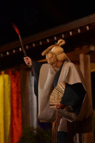 三光尉2 武田神社薪能第9回「鵜飼」シテ 佐久間二郎師