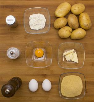 Zutaten für Kartoffel-Kroketten