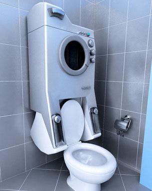 Wc con lavadora.