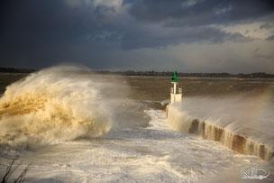 Tempête Pointe de merquel - Photographe nils dessale